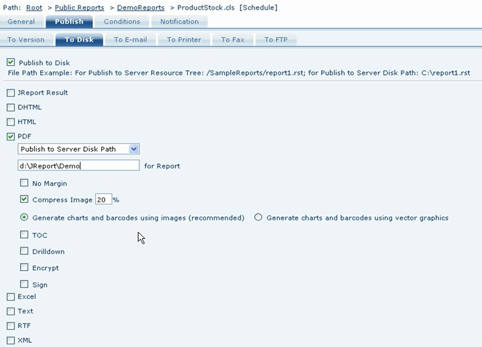 Automatic Generation and Notification of Reports