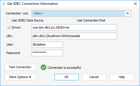 JDBC Connection Information